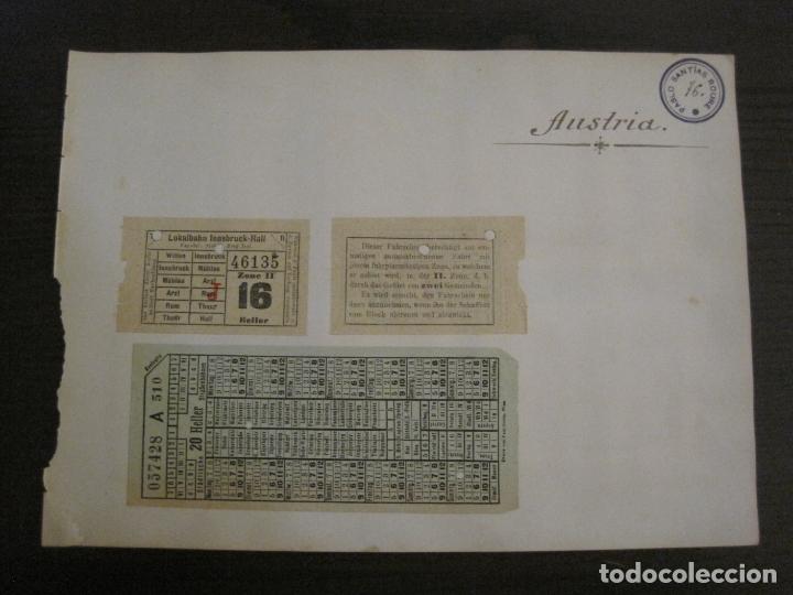 BILLETES TRANSPORTE-AUSTRIA-5 BILLETES ANTIGUOS TRANSPORTE-VER FOTOS(V-16.911) (Coleccionismo - Billetes de Transporte)