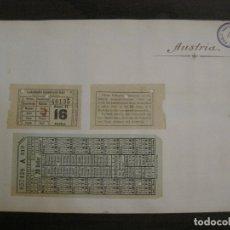 Coleccionismo Billetes de transporte: BILLETES TRANSPORTE-AUSTRIA-5 BILLETES ANTIGUOS TRANSPORTE-VER FOTOS(V-16.911). Lote 163961434