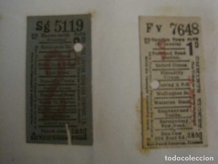 Coleccionismo Billetes de transporte: BILLETES TRANSPORTE-INGLATERRA-40 BILLETES ANTIGUOS TRANSPORTE-VER FOTOS-(V-16.912) - Foto 6 - 163961618