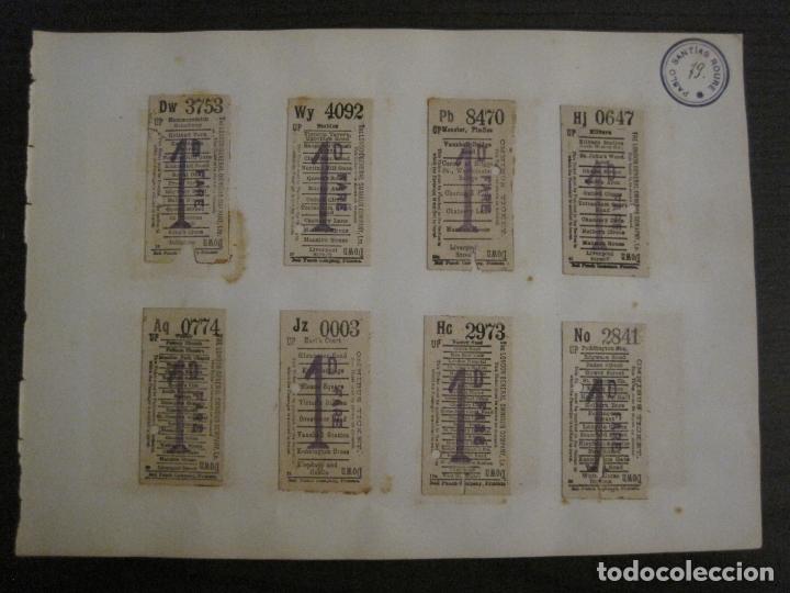 Coleccionismo Billetes de transporte: BILLETES TRANSPORTE-INGLATERRA-40 BILLETES ANTIGUOS TRANSPORTE-VER FOTOS-(V-16.912) - Foto 9 - 163961618