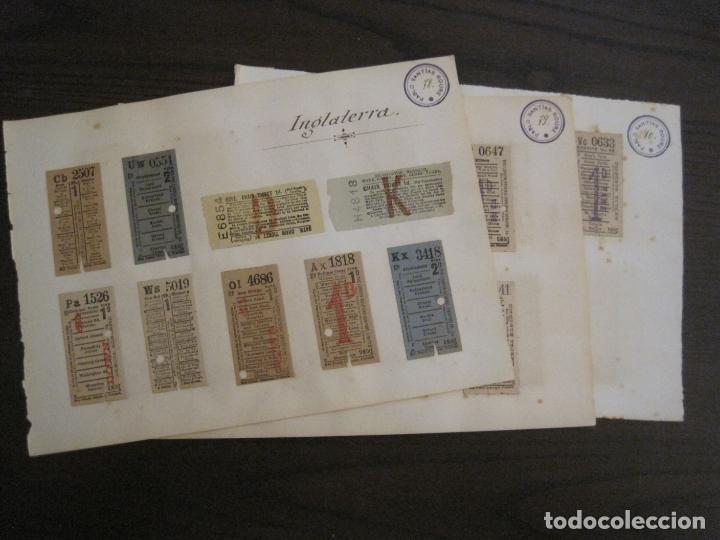 Coleccionismo Billetes de transporte: BILLETES TRANSPORTE-INGLATERRA-40 BILLETES ANTIGUOS TRANSPORTE-VER FOTOS-(V-16.912) - Foto 19 - 163961618