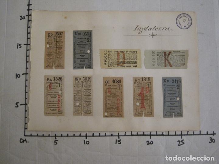 Coleccionismo Billetes de transporte: BILLETES TRANSPORTE-INGLATERRA-40 BILLETES ANTIGUOS TRANSPORTE-VER FOTOS-(V-16.912) - Foto 20 - 163961618