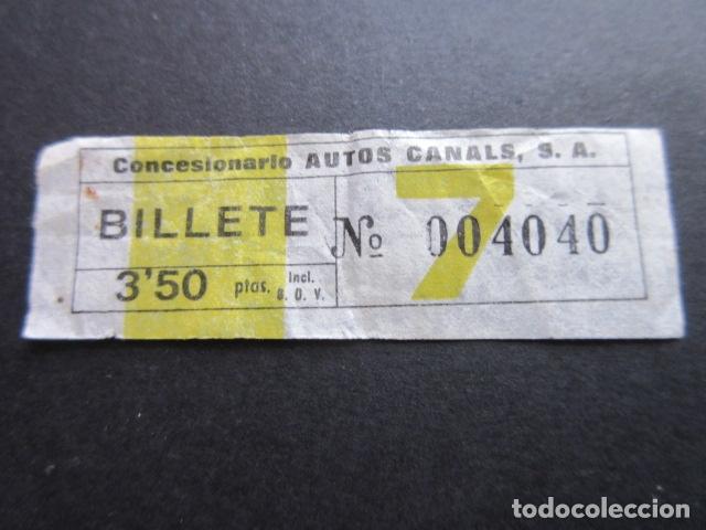 BILLETE EMPRESA AUTO CANALS BILLETE DE 3.50 PESETAS (Coleccionismo - Billetes de Transporte)