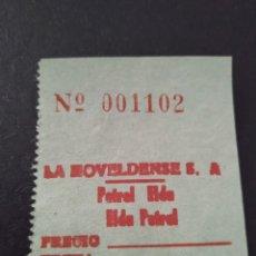 Coleccionismo Billetes de transporte: BILLETE LA NOVELDENSE PETROL ELDA. Lote 164242750