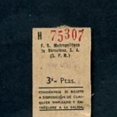 Sammeln von Fahrkarten - BILLETE METRO DE BARCELONA MARAGALL 3 PESETAS - 164695734