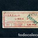 Coleccionismo Billetes de transporte: BILLETE METRO DE BARCELONA LINEA V 2.50 PESETAS. Lote 164695826