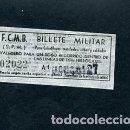 Coleccionismo Billetes de transporte: BILLETE METRO DE BARCELONA BILLETE MILITAR. Lote 164695854