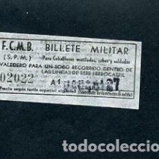 Sammeln von Fahrkarten - BILLETE METRO DE BARCELONA BILLETE MILITAR - 164695854