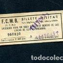 Coleccionismo Billetes de transporte: BILLETE METRO DE BARCELONA BILLETE MILITAR 1.80 PESETAS. Lote 164695878