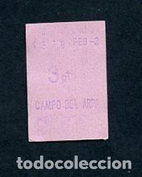 BILLETE METRO DE BARCELONA 3 PESETAS PARADA CAMPO DEL ARPA COLOR ROS (Coleccionismo - Billetes de Transporte)