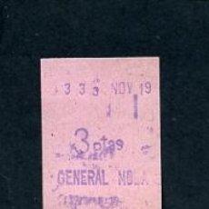 Sammeln von Fahrkarten - BILLETE METRO DE BARCELONA 3 PESETAS PARADA GENERAL MOLA ACTUAL VERDAGUER COLOR ROSA - 164696114