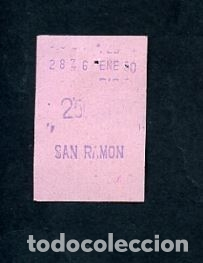 BILLETE METRO DE BARCELONA 3 PESETAS PARADA SAN RAMON ACTUAL COLLBLANC COLOR ROSA (Coleccionismo - Billetes de Transporte)