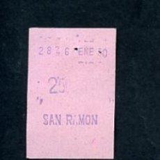 Sammeln von Fahrkarten - BILLETE METRO DE BARCELONA 3 PESETAS PARADA SAN RAMON ACTUAL COLLBLANC COLOR ROSA - 164696210