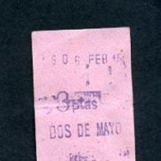 Sammeln von Fahrkarten - BILLETE METRO DE BARCELONA 3 PESETAS DOS DE MAYO ACTUAL SANT PAU COLOR ROSA - 164696402