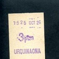 Sammeln von Fahrkarten - BILLETE METRO DE BARCELONA 3 PESETAS URQUINAONA COLOR BLANCO - 164697202