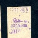 Coleccionismo Billetes de transporte: BILLETE METRO DE BARCELONA 2 PESETAS URQUINAONA COLOR BLANCO. Lote 164697234