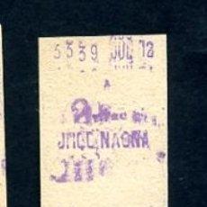 Sammeln von Fahrkarten - BILLETE METRO DE BARCELONA 2 PESETAS URQUINAONA COLOR BLANCO - 164697234