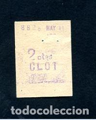 BILLETE METRO DE BARCELONA 2 PESETAS CLOT COLOR BLANCO (Coleccionismo - Billetes de Transporte)
