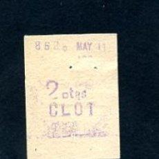 Sammeln von Fahrkarten - BILLETE METRO DE BARCELONA 2 PESETAS CLOT COLOR BLANCO - 164697334