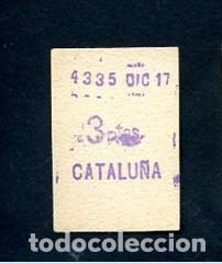 BILLETE METRO DE BARCELONA 3 PESETAS CATALUÑA COLOR BLANCO (Coleccionismo - Billetes de Transporte)