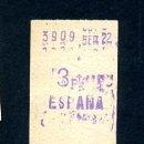 Coleccionismo Billetes de transporte: BILLETE METRO DE BARCELONA 3 PESETAS ESPAÑA COLOR BLANCO. Lote 164697426