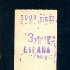 Sammeln von Fahrkarten - BILLETE METRO DE BARCELONA 3 PESETAS ESPAÑA COLOR BLANCO - 164697426