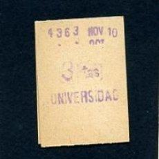 Sammeln von Fahrkarten - BILLETE METRO DE BARCELONA 3 PESETAS UNIVERSIDAD COLOR BLANCO - 164697458