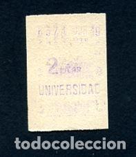 BILLETE METRO DE BARCELONA 2 PESETAS UNIVERSIDAD COLOR BLANCO (Coleccionismo - Billetes de Transporte)