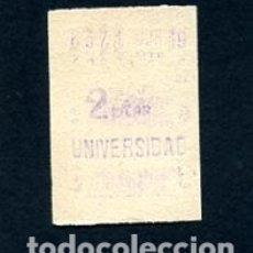 Sammeln von Fahrkarten - BILLETE METRO DE BARCELONA 2 PESETAS UNIVERSIDAD COLOR BLANCO - 164697474