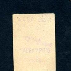 Sammeln von Fahrkarten - BILLETE METRO DE BARCELONA 3 PESETAS FABRA Y PUIG COLOR BLANCO - 164697770