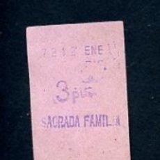 Sammeln von Fahrkarten - BILLETE METRO DE BARCELONA 3 PESETAS SAGRADA FAMILIA COLOR ROSA - 164697834