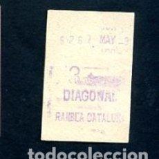 Sammeln von Fahrkarten - BILLETE METRO DE BARCELONA 3 PESETAS DIAGONAL RAMBLA CATALUÑA COLOR BLANCO - 164697870