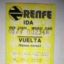 Coleccionismo Billetes de transporte: BILLETE TREN RENFE IDA Y VUELTA, COLLADO MEDIANO-M. RECOLETOS ** 23 JULIO 1981. Lote 164758562