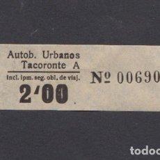 Coleccionismo Billetes de transporte: BILLETE CANARIAS AUTOBUSES URBANOS TACORONTE 2 PESETAS. Lote 165652246