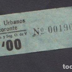 Coleccionismo Billetes de transporte: BILLETE CANARIAS AUTOBUSES URBANOS TACORONTE 1 PESETAS. Lote 165652286