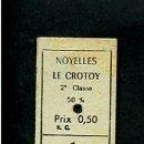 Coleccionismo Billetes de transporte: BILLETE EDMONSON NOYELLES LE CROTOY 0.50 2ª CLASE 1968. Lote 165656270