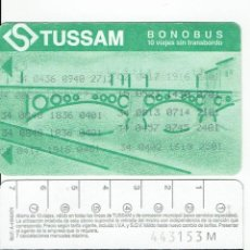 Coleccionismo Billetes de transporte: PUENTE TRIANA VERDE-ANTIGUO ABONO AUTOBUS SIN TRANSBORDO - , TUSSAM SEVILLA BUS. Lote 165950794