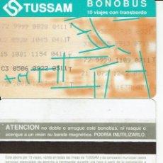 Coleccionismo Billetes de transporte: GIRALDA -ANTIGUO ABONO AUTOBUS CON TRANSBORDO - , TUSSAM SEVILLA BUS. Lote 165951558