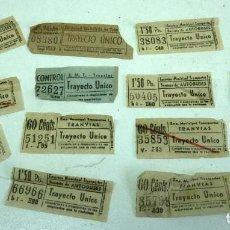 Coleccionismo Billetes de transporte: LOTE DE BILLETES DE TRANVIAS. Lote 165996054