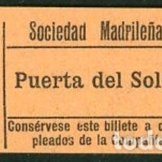 Coleccionismo Billetes de transporte: (GSC 2) BILLETE DE TRANVIA DE MADRID. Lote 166407138