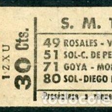 Coleccionismo Billetes de transporte: (GSC 2) BILLETE DE TRANVIA DE MADRID. Lote 166408542