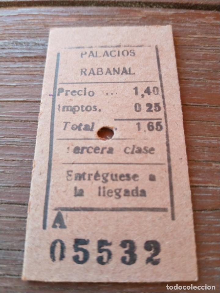 Ferrocarril de Ponferrada villablino - billete edmonson palacios rabanal