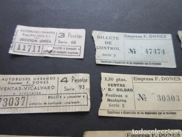 Coleccionismo Billetes de transporte: LOTE 12 BILLETES CAPICUA MADRID VALLEJO F. DONES AUTOBUSES VER NUMEROS - Foto 4 - 166790454
