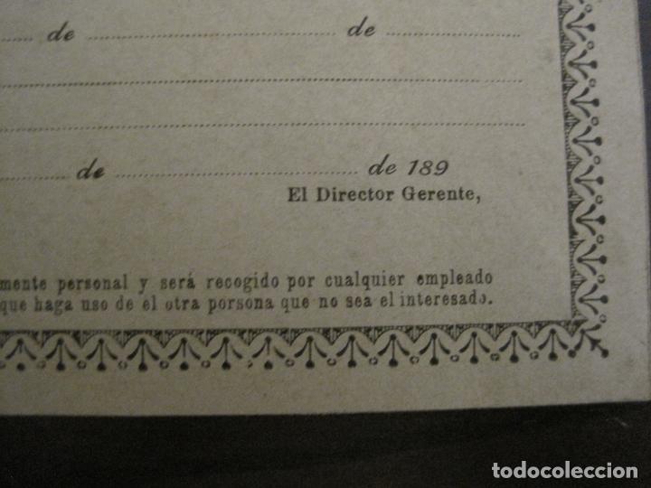 Coleccionismo Billetes de transporte: COMPAÑIA FERROCARRILES-VILLENA-ALCOY-YECLA-ALCUDIA DE CRESPINS-BILLETE AÑO 1890-VER FOTOS-(V-17.357) - Foto 9 - 167462640