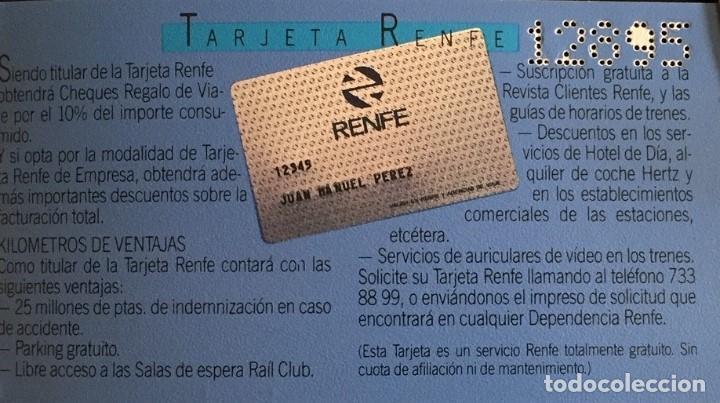 Coleccionismo Billetes de transporte: Renfe Club de Viajes talonario con talones (sin usar) - Foto 4 - 167712184