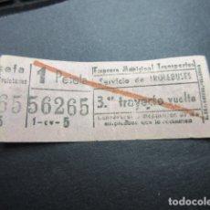 Coleccionismo Billetes de transporte: BILLETE MADRID EMT TROLEBUSES 3ER TRAYECTO VUELTA REF: ARD-MAD100 - CAPICUA 56265. Lote 167941424