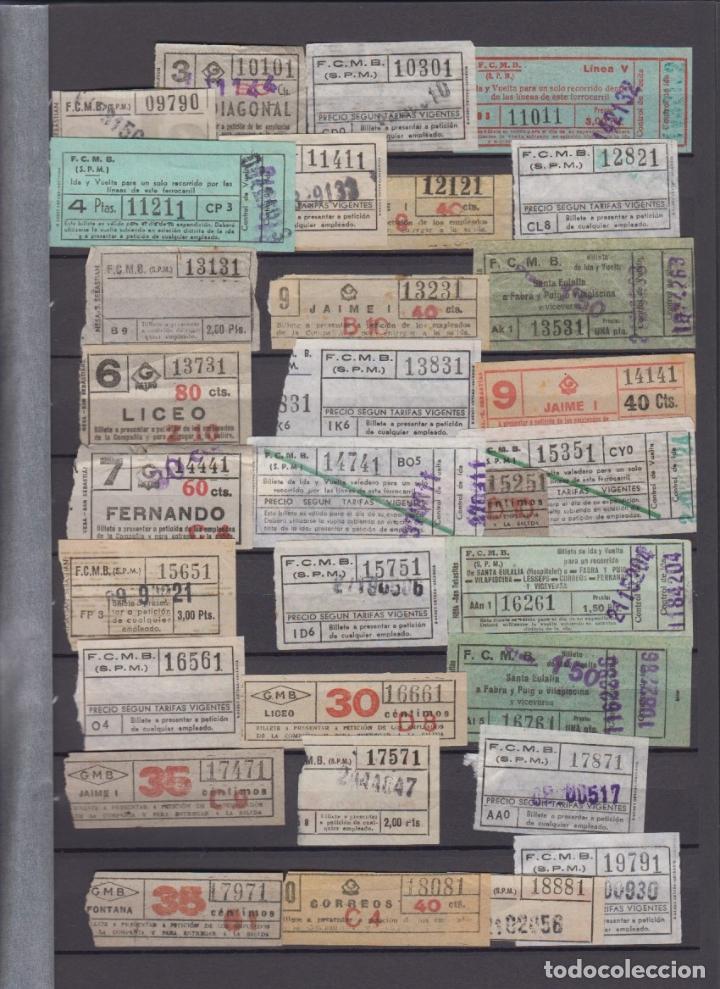 Coleccionismo Billetes de transporte: COLECCION 336 BILLETE CAPICUA NUMERO DIFERENTE MODALIDAD METRO BARCELONA ACTUALIZADO - LEER INTERIOR - Foto 2 - 167950476