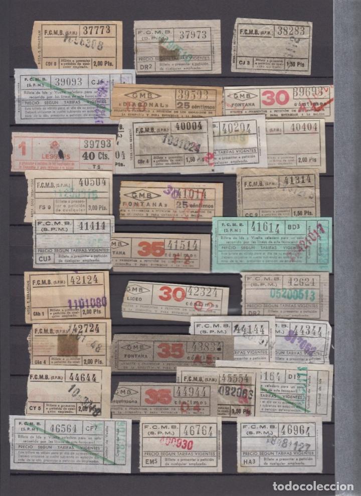 Coleccionismo Billetes de transporte: COLECCION 336 BILLETE CAPICUA NUMERO DIFERENTE MODALIDAD METRO BARCELONA ACTUALIZADO - LEER INTERIOR - Foto 5 - 167950476