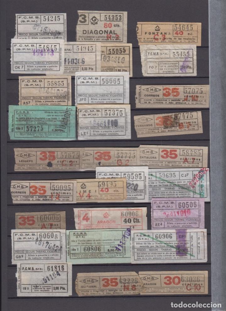 Coleccionismo Billetes de transporte: COLECCION 336 BILLETE CAPICUA NUMERO DIFERENTE MODALIDAD METRO BARCELONA ACTUALIZADO - LEER INTERIOR - Foto 6 - 167950476