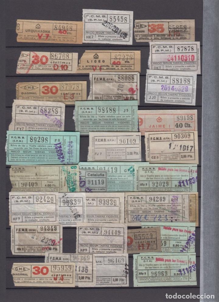 Coleccionismo Billetes de transporte: COLECCION 336 BILLETE CAPICUA NUMERO DIFERENTE MODALIDAD METRO BARCELONA ACTUALIZADO - LEER INTERIOR - Foto 11 - 167950476